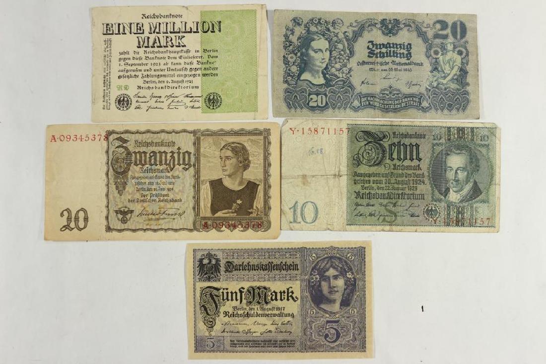 GERMAN 1917-5 MARK,1929-10 MARK,1939-20 MARK,