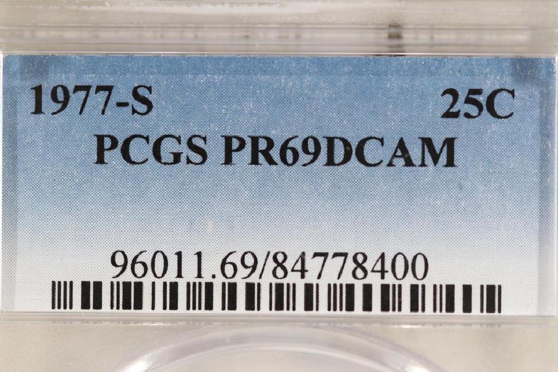 1977-S WASHINGTON QUARTER PCGS PR69 DCAM - 3