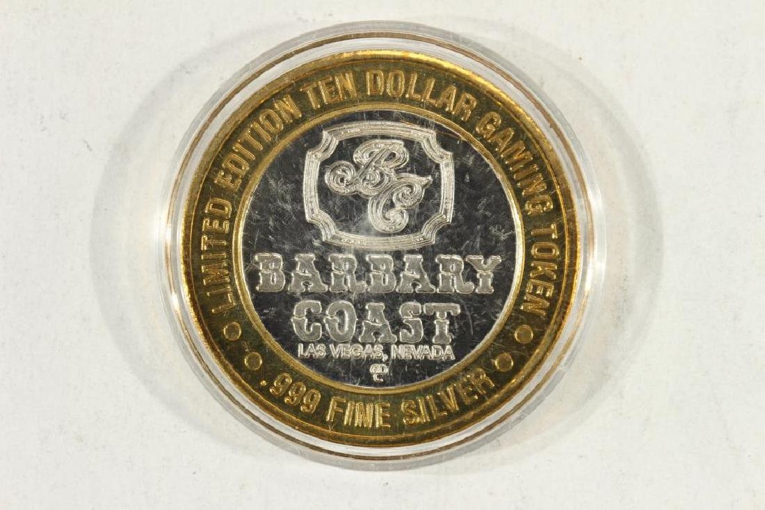 CASINO $10 SILVER TOKEN (UNC) BARBARY COAST