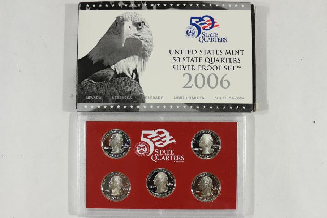 2006 SILVER US 50 STATE QUARTERS PROOF SET - 2
