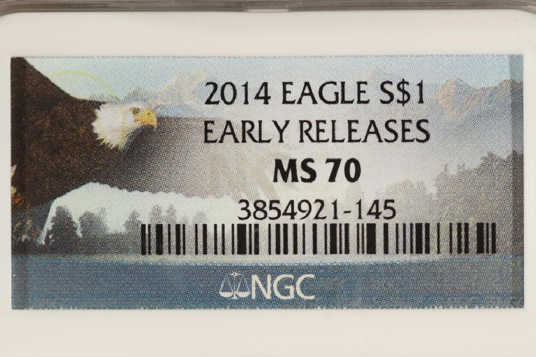 2014 AMERICAN SILVER EAGLE NGC MS70 EARLY RELEASES - 3
