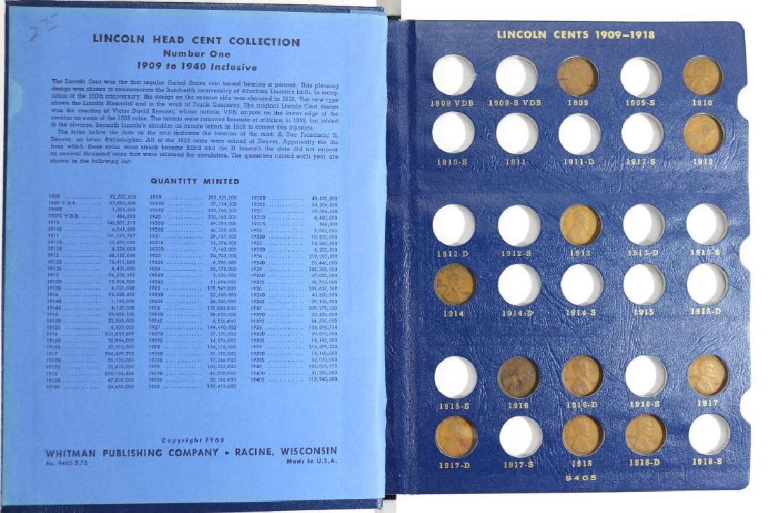 1909-1940 LINCOLN CENT ALBUM 52 COINS