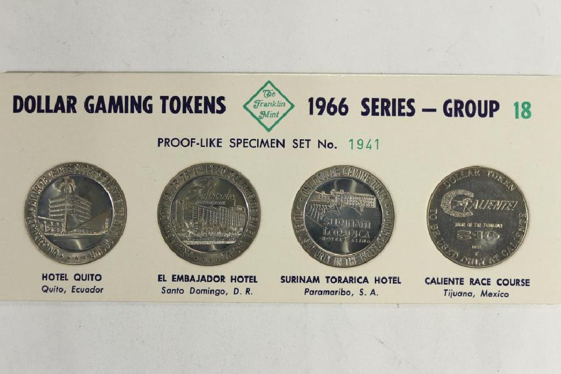4-$1 GAMING TOKENS 1966 SERIES GROUP 18 (PF LIKE)