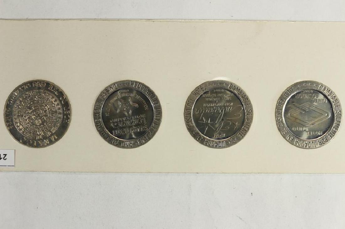 4-$1 GAMING TOKENS 1966 SERIES GROUP 18 (PF LIKE) - 2