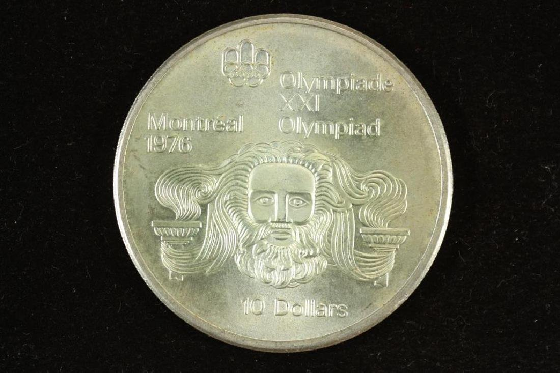1974 CANADA SILVER $10 1976 MONTREAL OLYMPICS