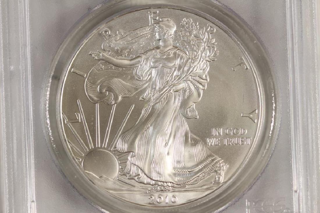 2010 AMERICAN SILVER EAGLE PCGS MS69