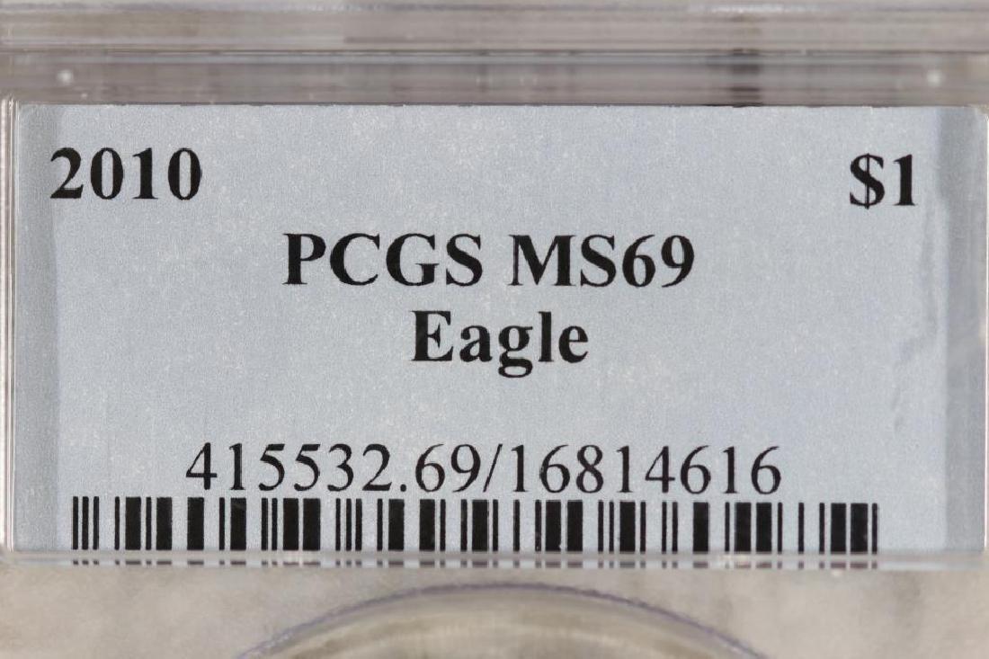 2010 AMERICAN SILVER EAGLE PCGS MS69 - 3