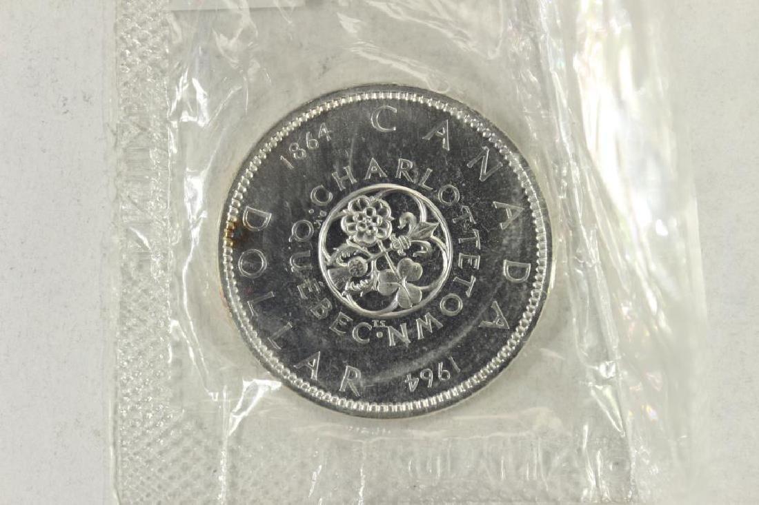1964 CANADA CHARLOTTETOWN SILVER DOLLAR UNC