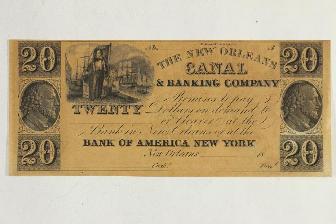 $20 CANAL AND BANKING COMPANY OF NEW ORLEANS