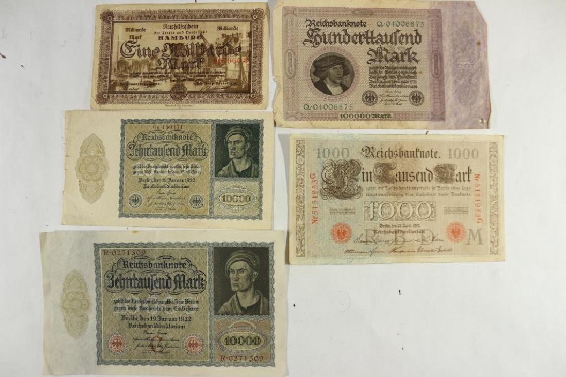 GERMAN 1910-1000 MARK, 2-1922-10000 MARKS,
