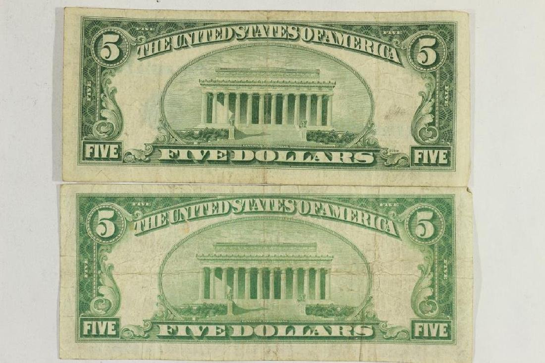1934 & 1953 $5 SILVER CERTIFICATES BLUE SEALS - 2
