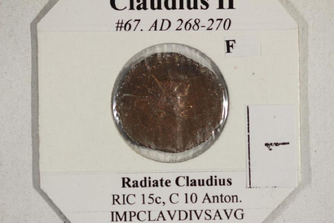 268-270 A.D. CLAUDIUS II ANCIENT COIN (FINE) - 3