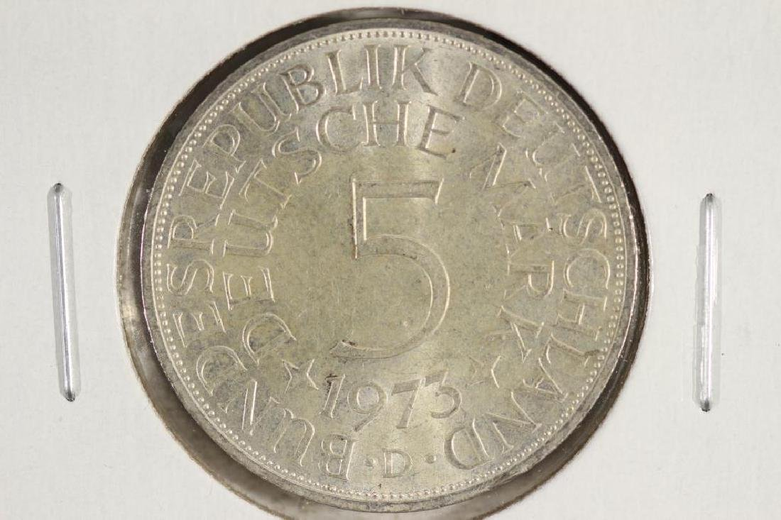 1973-D GERMAN SILVER 5 MARKS