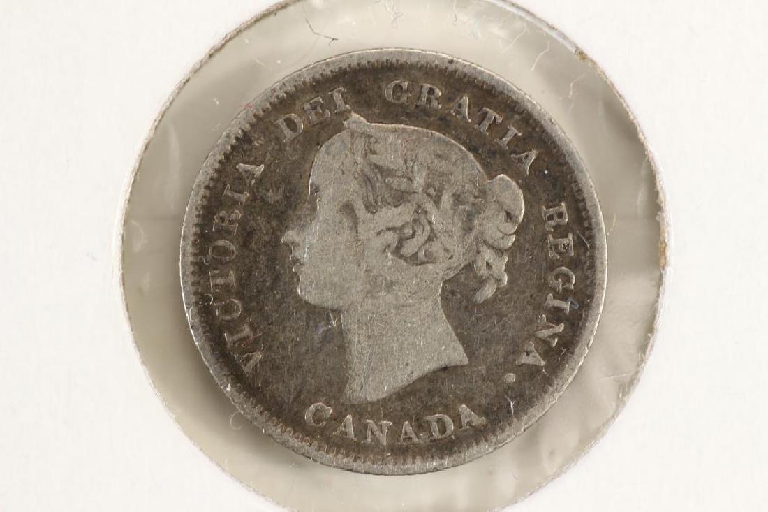 1891 CANADA SILVER 5 CENTS - 2