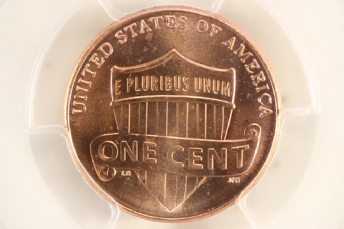 2012 SHIELD LINCOLN CENT PCGS MS66RD