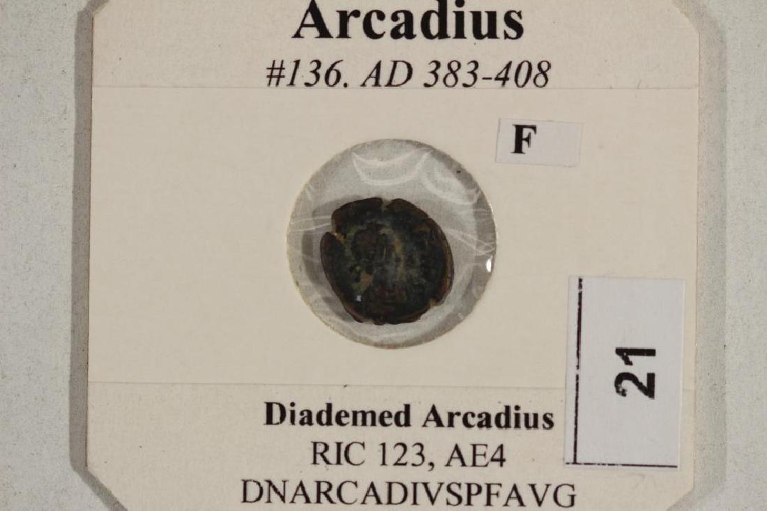 383-408 A.D. ARCADIUS ANCIENT COIN (FINE) - 3
