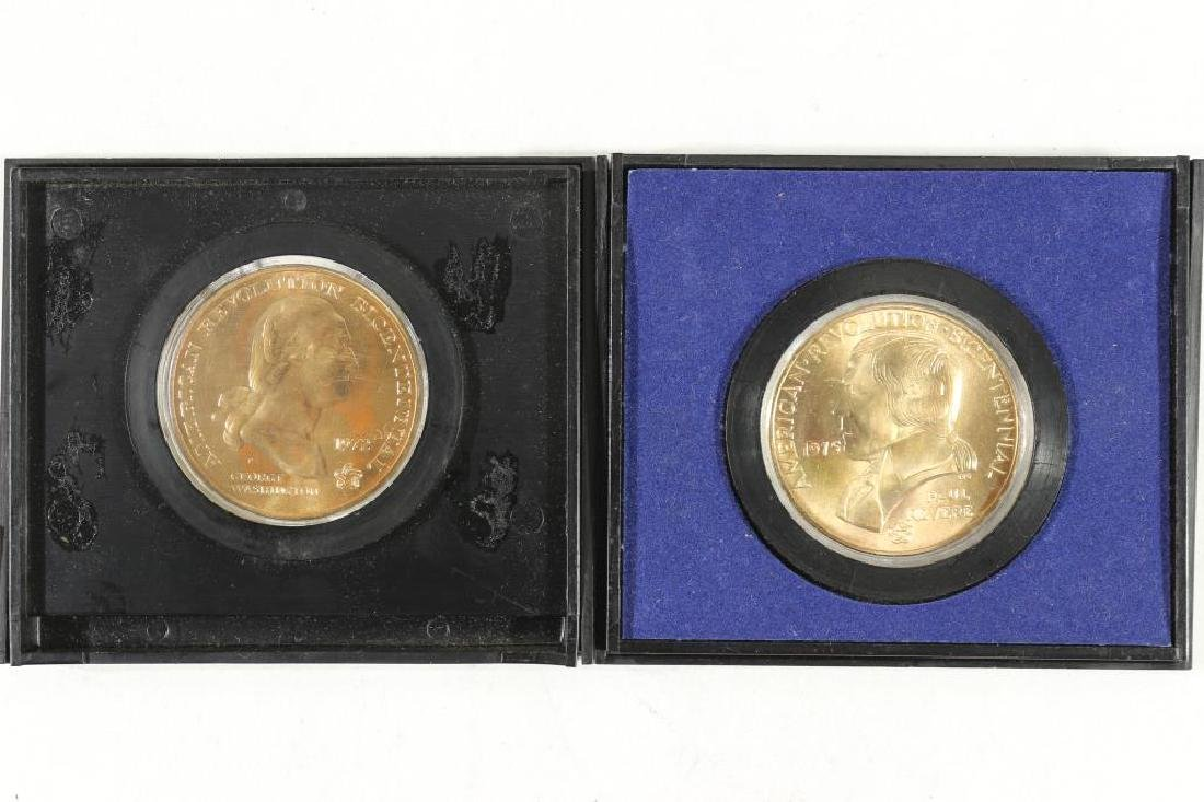 2-US MINT AMERICAS 1ST MEDALS 1972 BICENTENNIAL