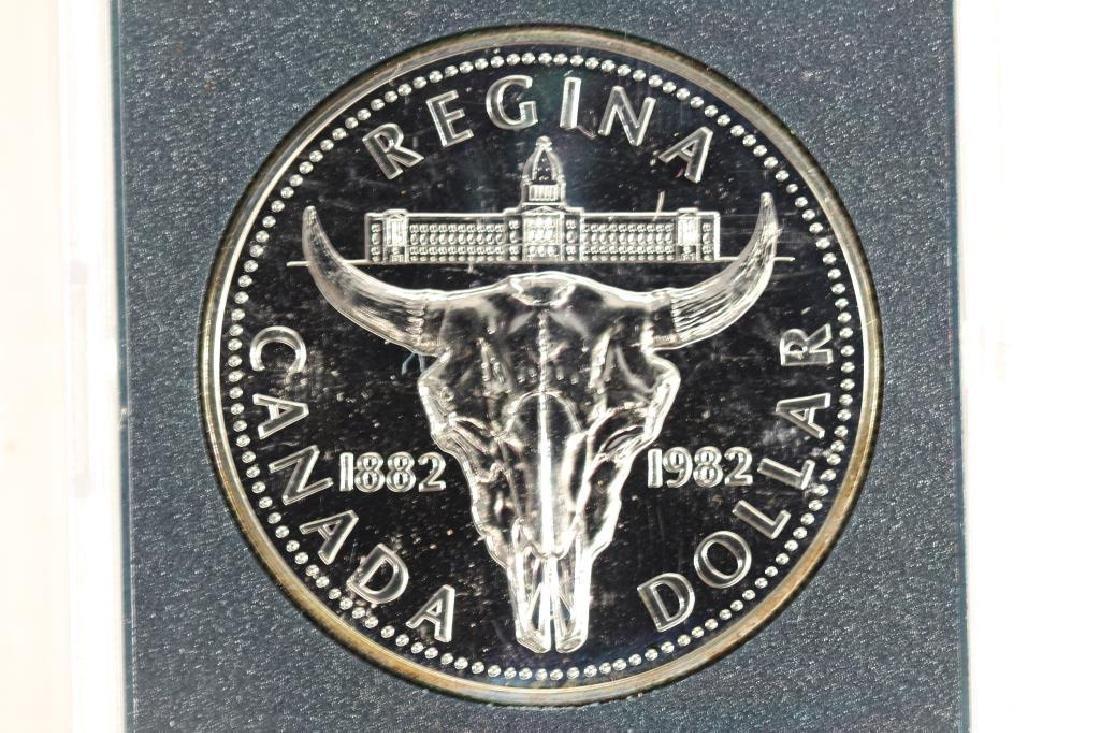 1982 CANADA REGINA SILVER DOLLAR (PF LIKE)