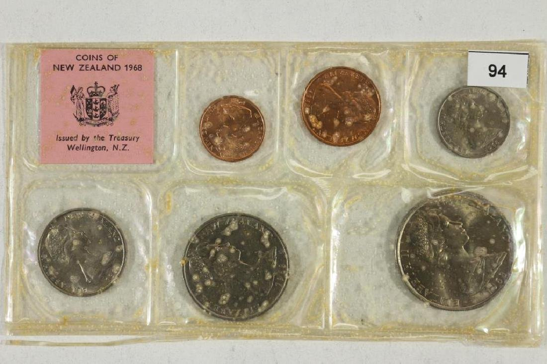 1968 NEW ZEALAND SPECIAL ISSUE UNC COIN SET