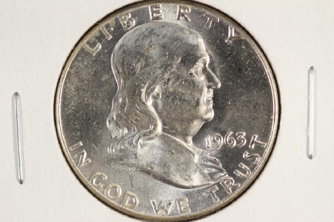 1963 FRANKLIN HALF DOLLAR BRILLIANT UNC