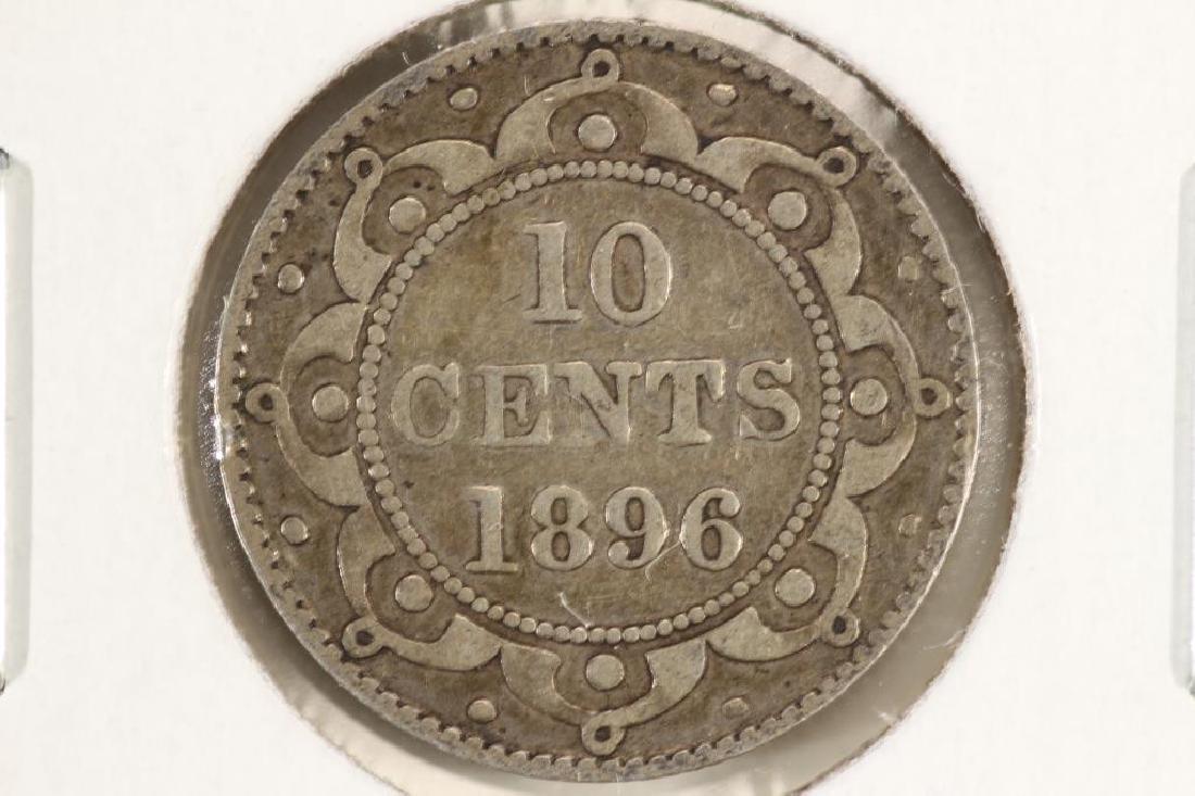1896 NEWFOUNDLAND SILVER 10 CENT