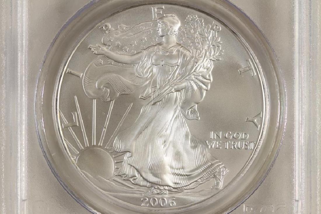 2006 AMERICAN SILVER EAGLE PCGS MS69