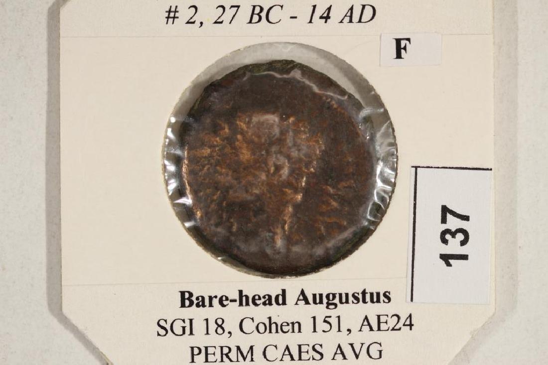 27 B.C.-14 A.D. AUGUSTUS ANCIENT COIN (FINE) - 3