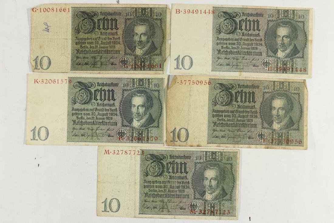5-1929 GERMAN 10 MARK NOTES