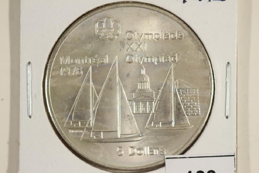1973 CANADA SILVER $5 1976 MONTREAL OLYMPICS