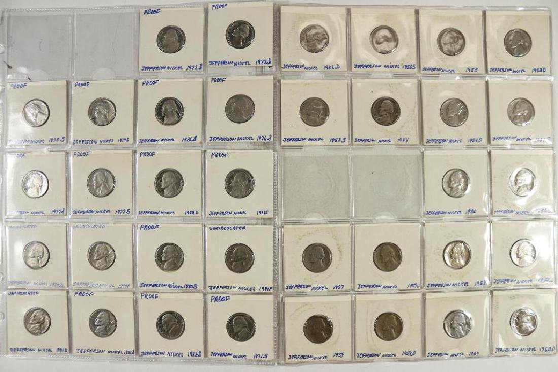 36 ASSORTED JEFFERSON NICKELS (15 ARE PROOF'S)