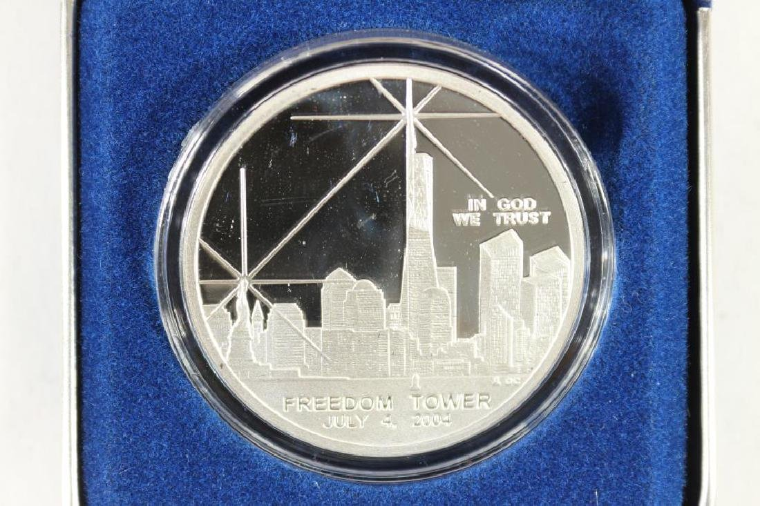 1 OZ. 100 MILL SILVER CLAD MEDAL FREEDOM TOWER