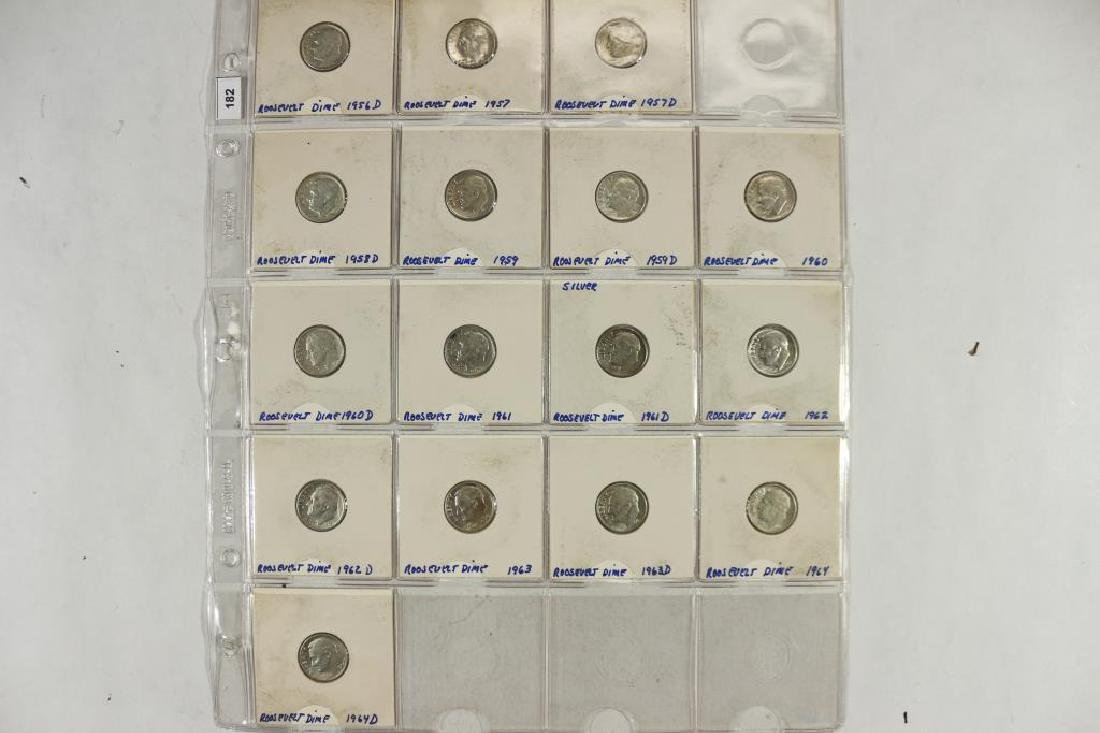 16 ASSORTED 1956-1964 SILVER ROOSEVELT DIMES
