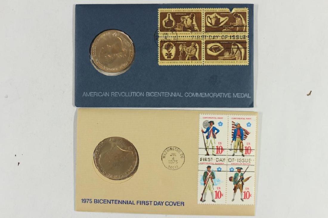 1972 & 1975 US MINT BICENTENNIAL FDC'S