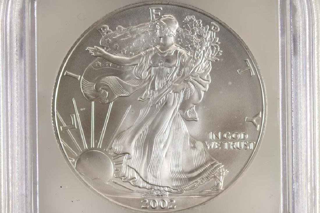 2002 AMERICAN SILVER EAGLE ICG MS69