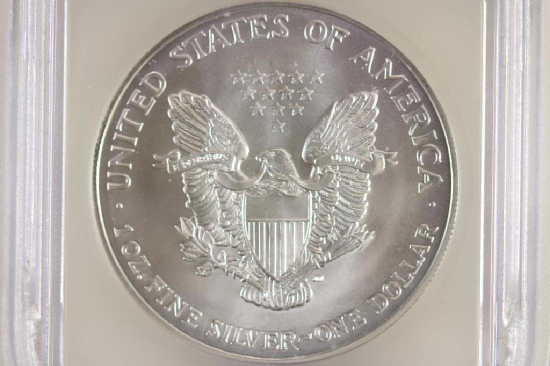 2002 AMERICAN SILVER EAGLE ICG MS69 - 2