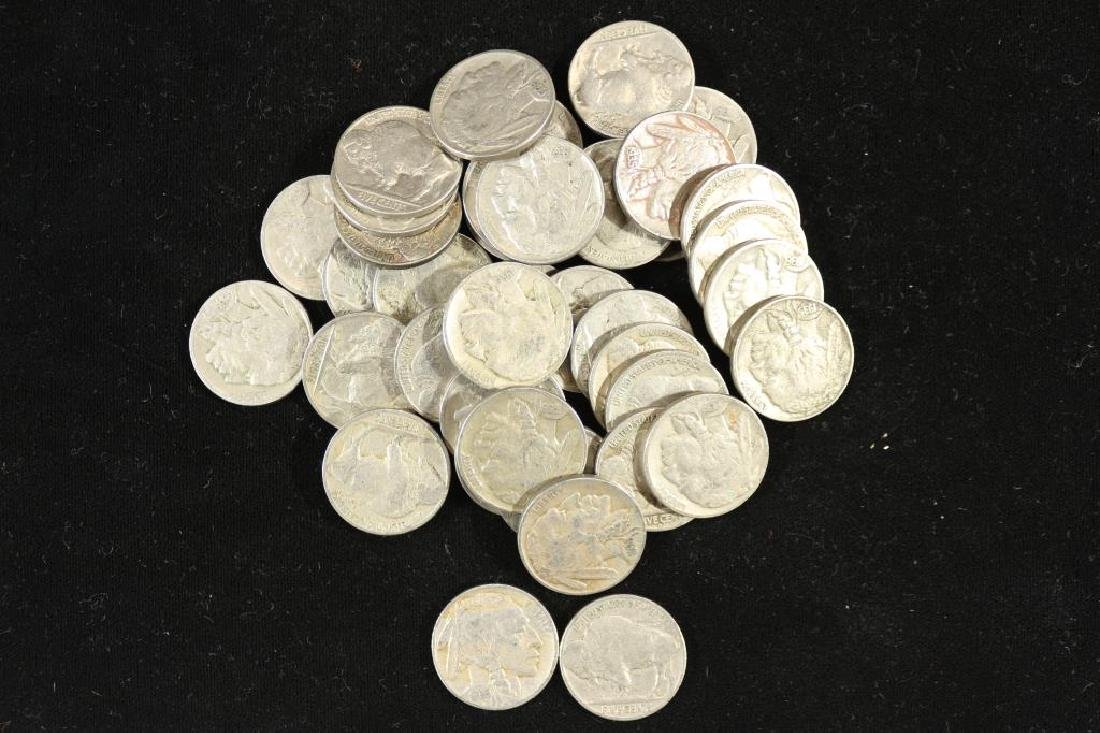 ROLL OF 40 ASSORTED 1930'S BUFFALO NICKELS