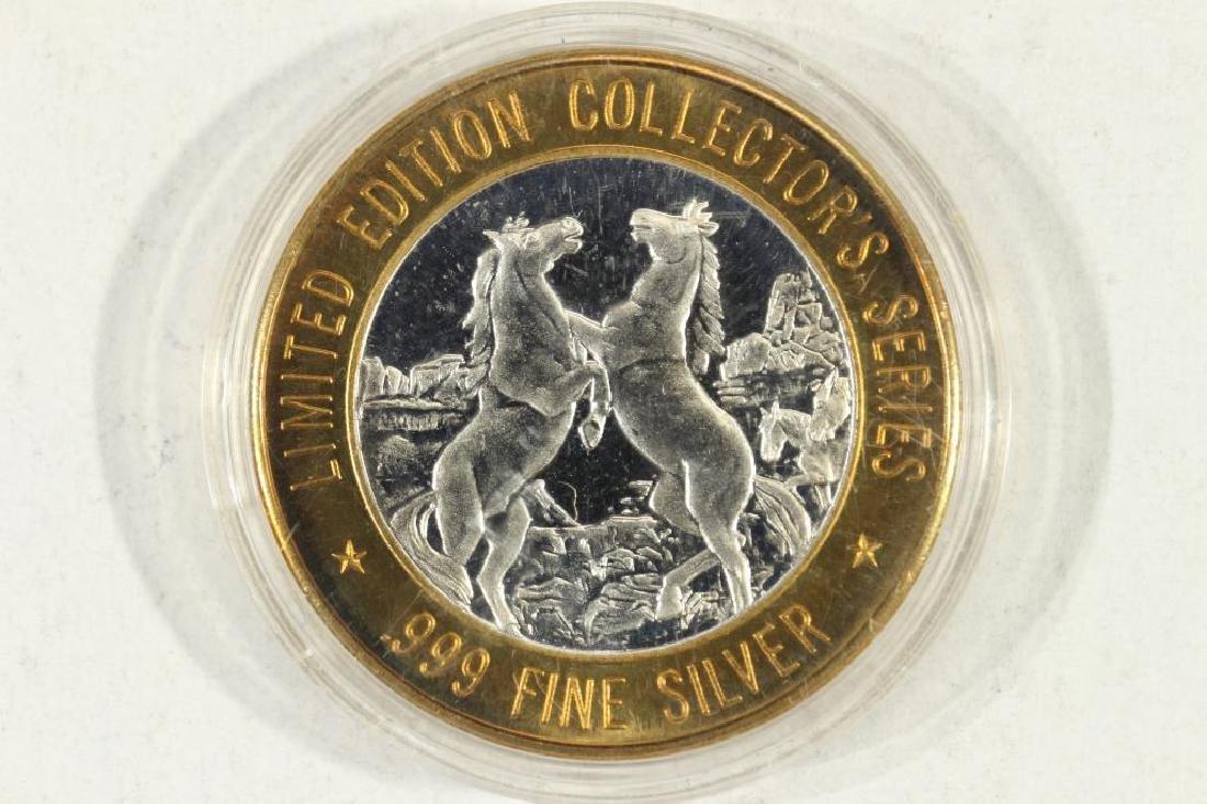 CASINO $10 SILVER TOKEN (UNC) 1996 MYSTIC LAKE