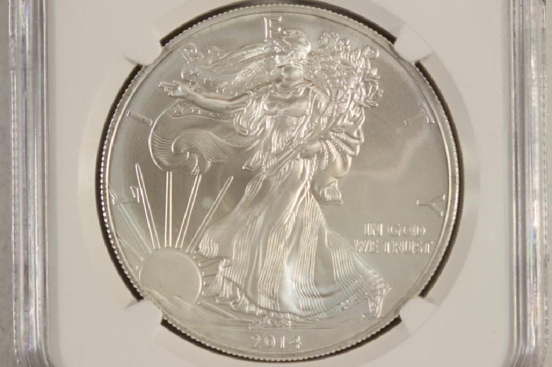 2014 (S) AMERICAN SILVER EAGLE NGC MS69