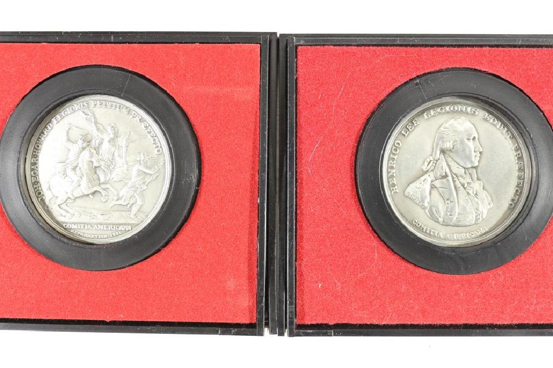 2-US MINT AMERICAS 1ST MEDALS IN PEWTER