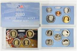 2010 US PROOF SET WITH BOX 14 PIECES