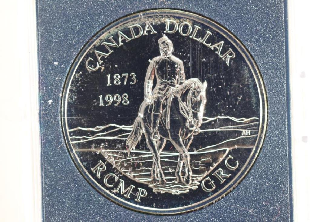 1998 CANADA RCMP-GRC SILVER DOLLAR PROOF