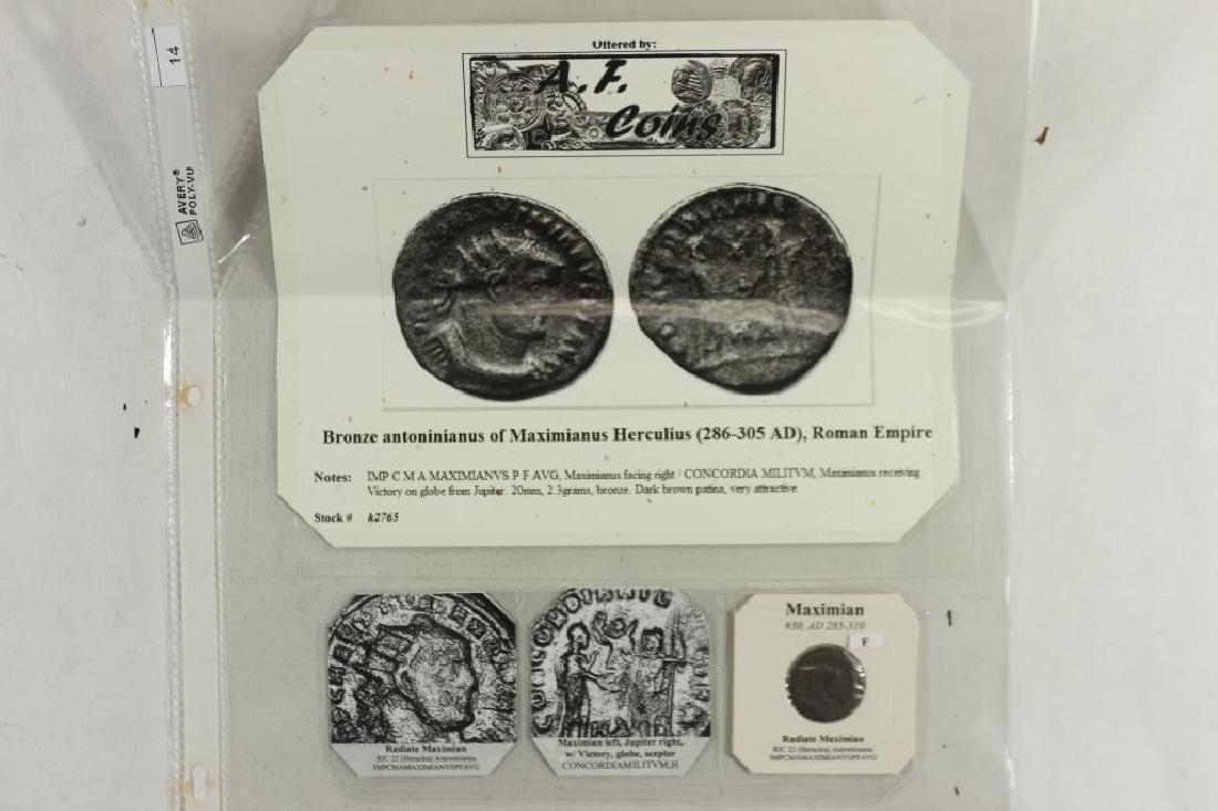 285-310 A.D. MAXIMIAN ANCIENT COIN (FINE)