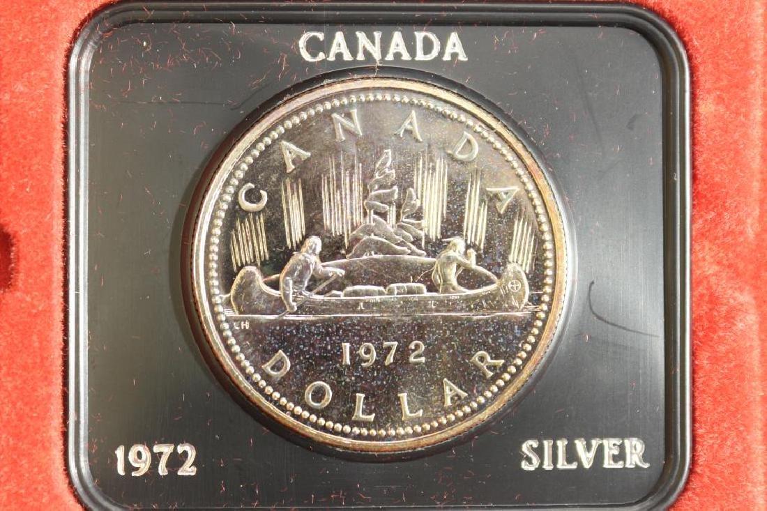 1972 CANADA SILVER DOLLAR (PF LIKE)