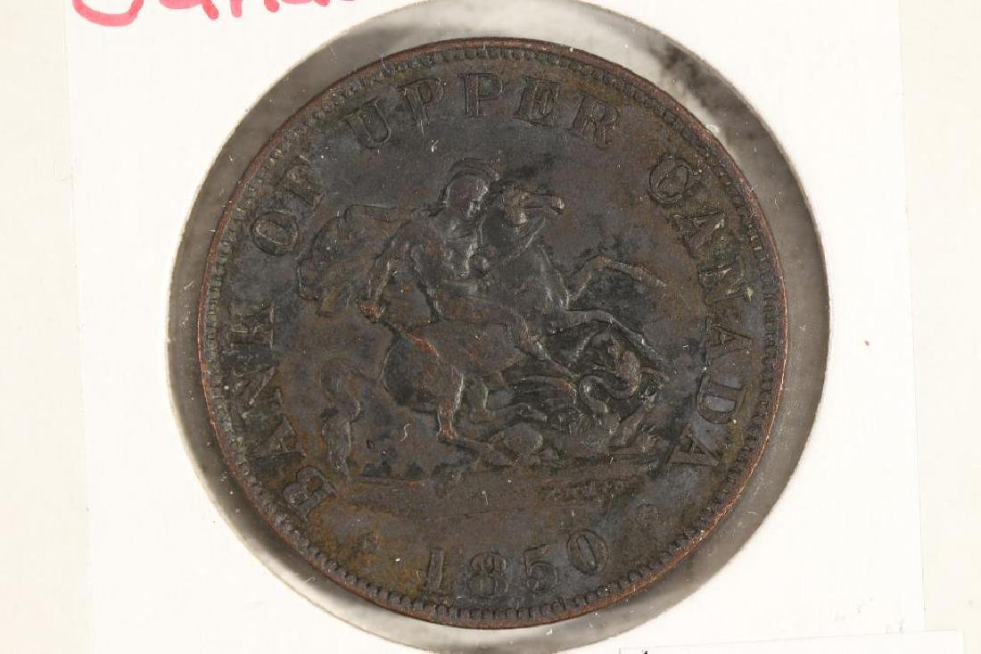 1850 BANK OF UPPER CANADA HALF PENNY BANK TOKEN