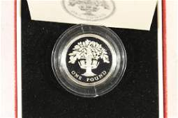 1987 UNITED KINGDOM SILVER PROOF PIEDFORT 1 POUND