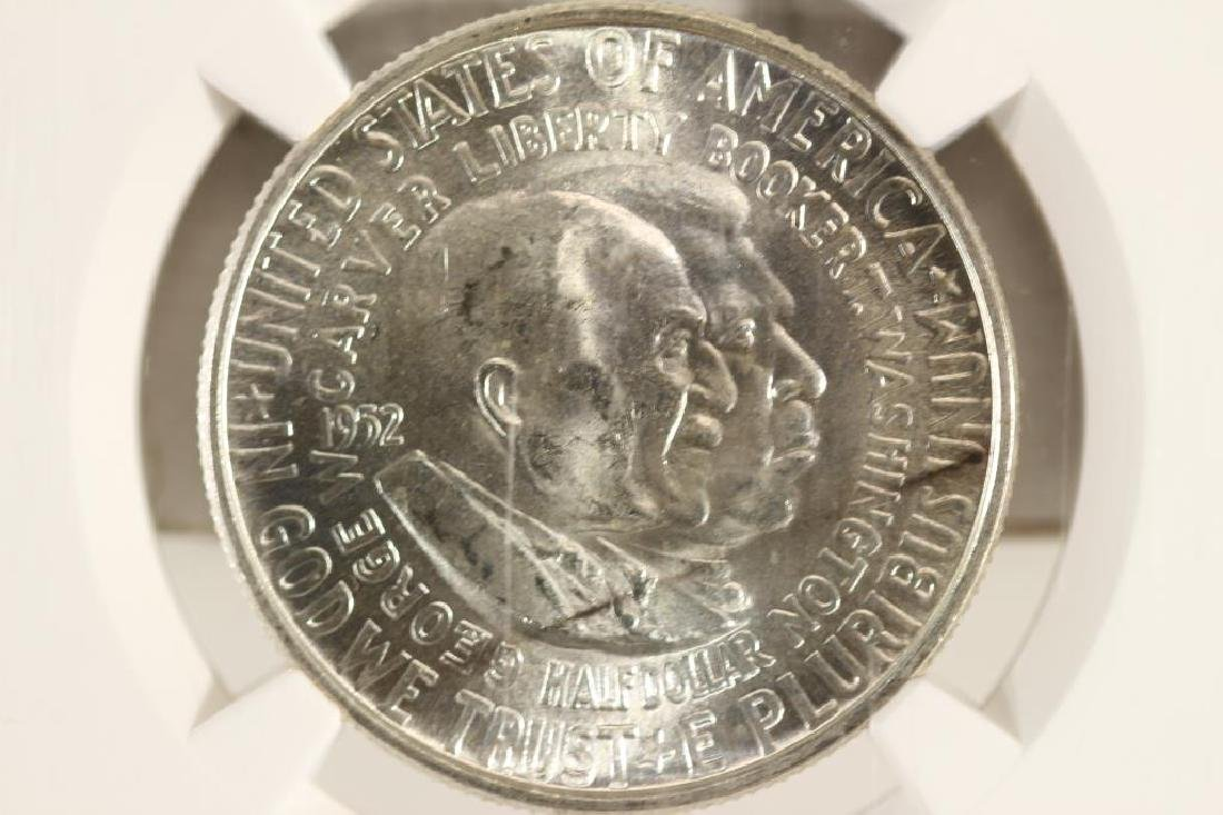 1952 WASHINGTON/CARVER HALF DOLLAR NGC UNC DETAILS