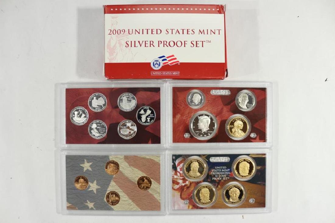 2009 US SILVER PROOF SET (WITH BOX) 18 PIECES