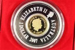 2007 AUSTRALIA LUNAR NEW YEAR 1 OZ SILVER HOLY