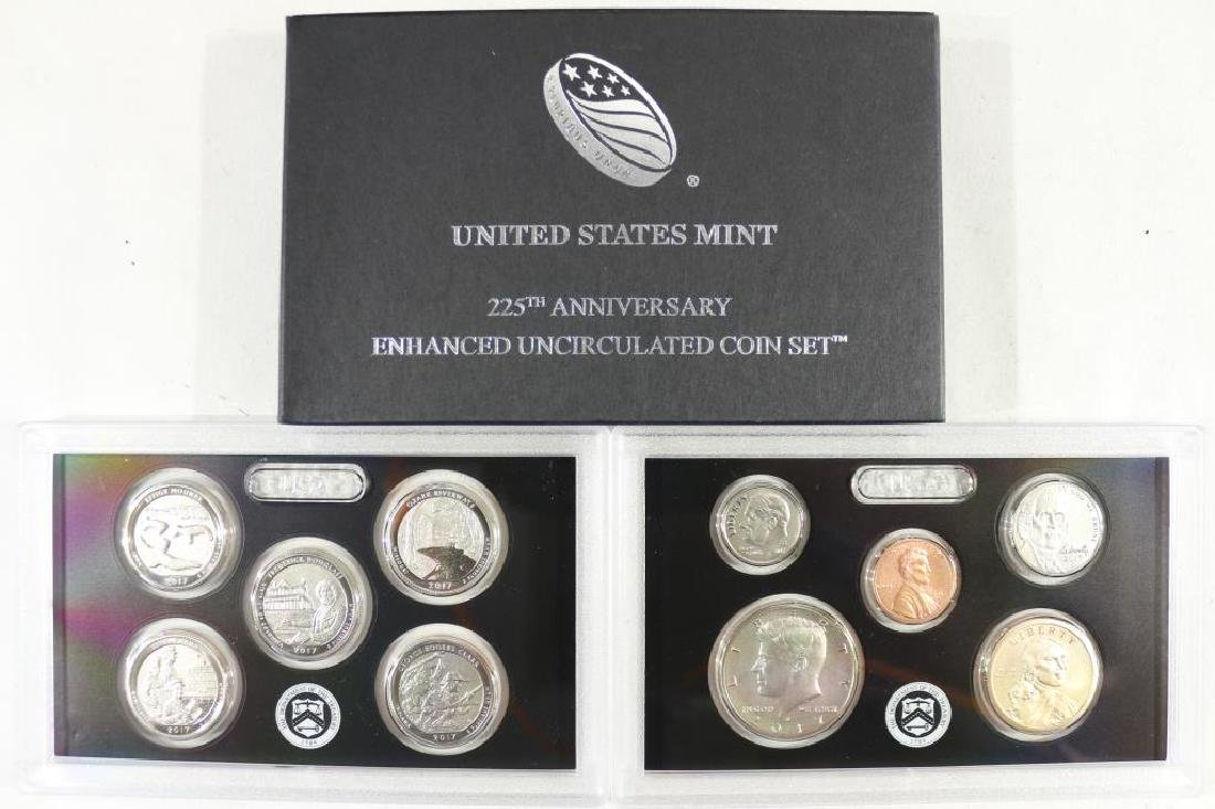 2017 US MINT 225TH ANNIVERSARY ENHANCED UNC COIN