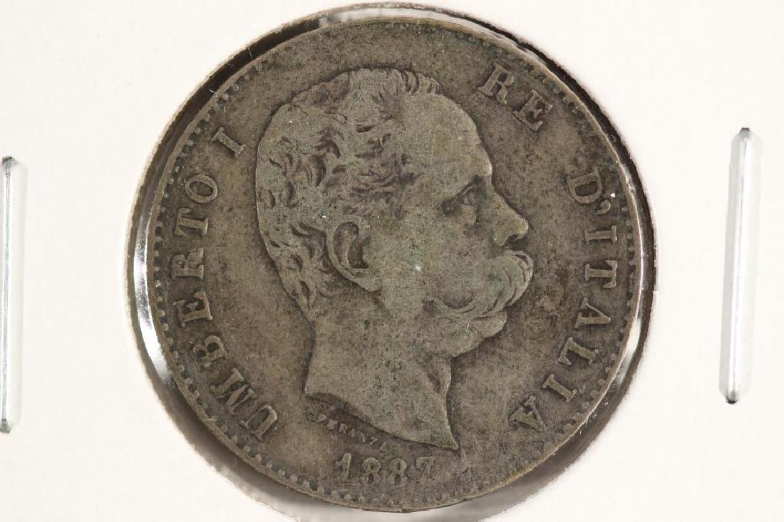 1887 ITALY SILVER LIRE